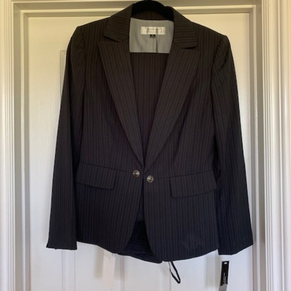 Tahari Jackets & Blazers - Blue Striped Suit (Pants and Jacket)